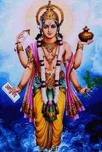 Dhanvantari - den ayurvediska medicinens gud